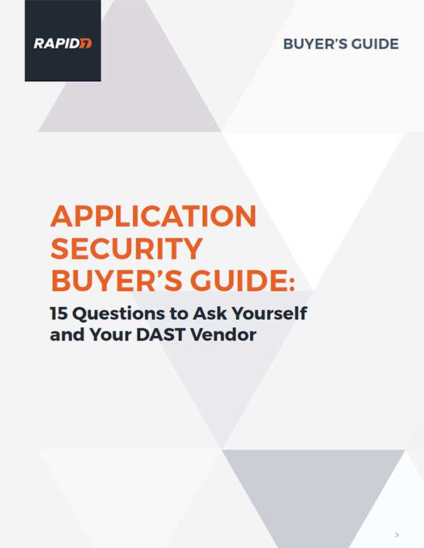 Rapid7 Application Security Buyer's Guide