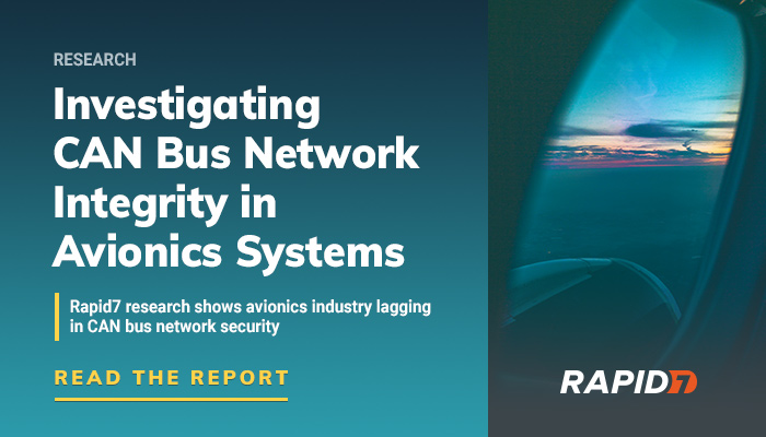 Security Research] CAN Bus Network Integrity in Avionics Systems