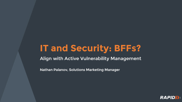 IT and Security: BFFs?