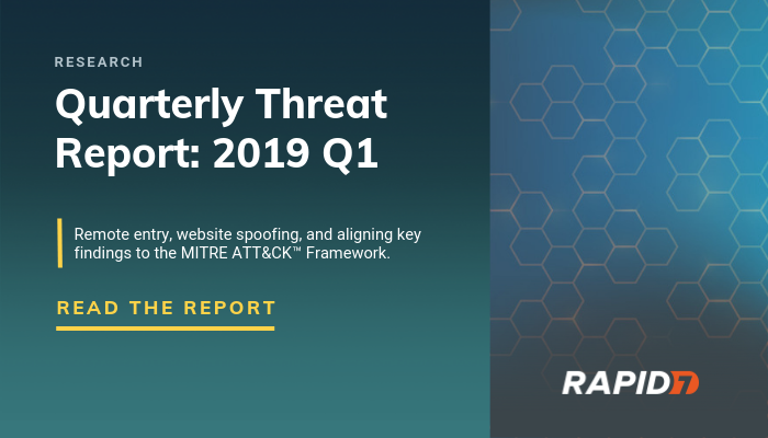 [Security Research] Rapid7 Threat Intelligence Report: Q1 2019 | Rapid7
