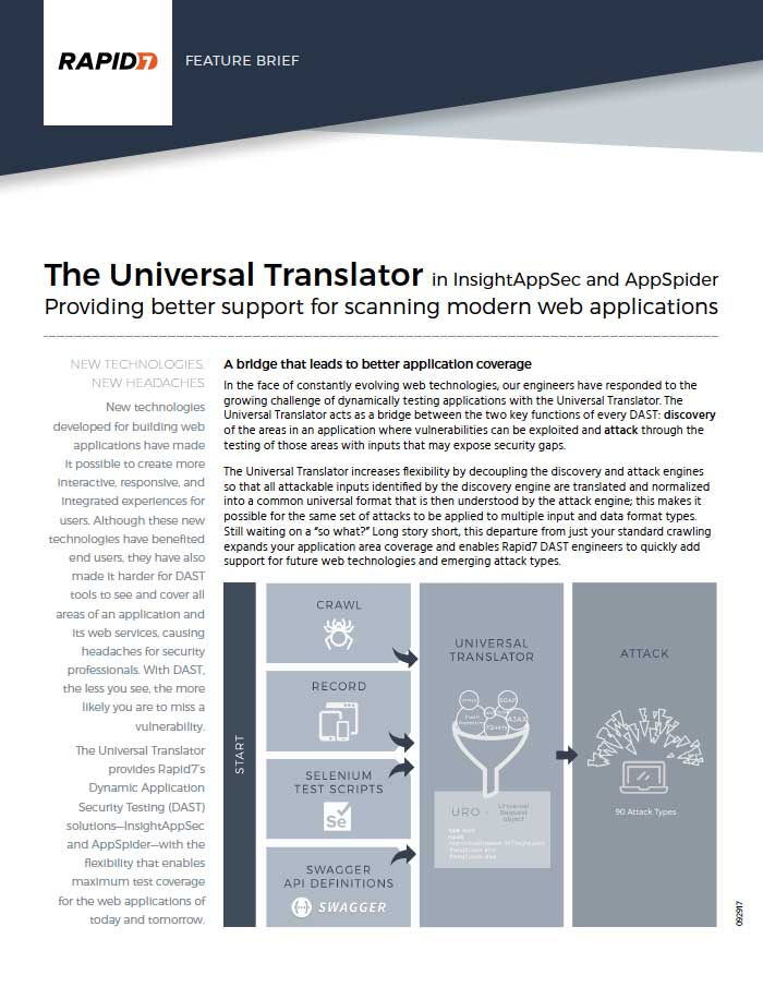 InsightAppSec and AppSpider Universal Translator