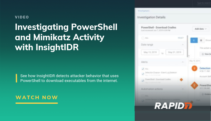 Video] Detecting PowerShell and Mimikatz Activity with
