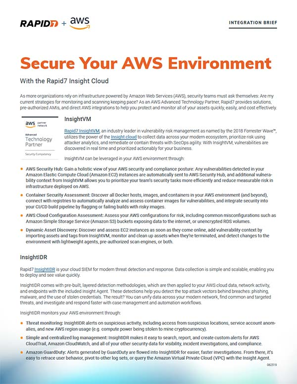 Securing Amazon Web Services (AWS) Infrastructure