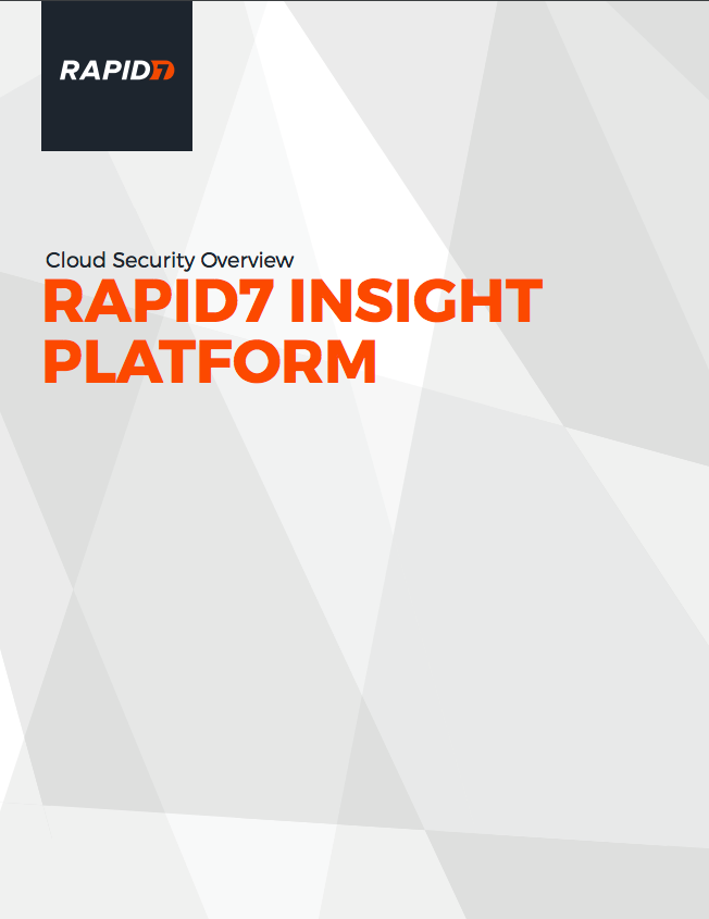 Rapid7 Insight Platform Cloud Overview