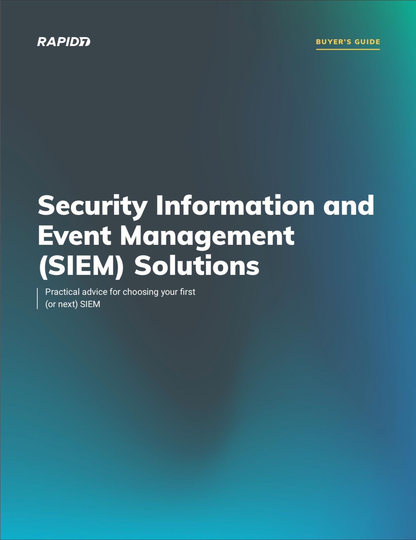 Rapid7 SIEM Buyer's Guide