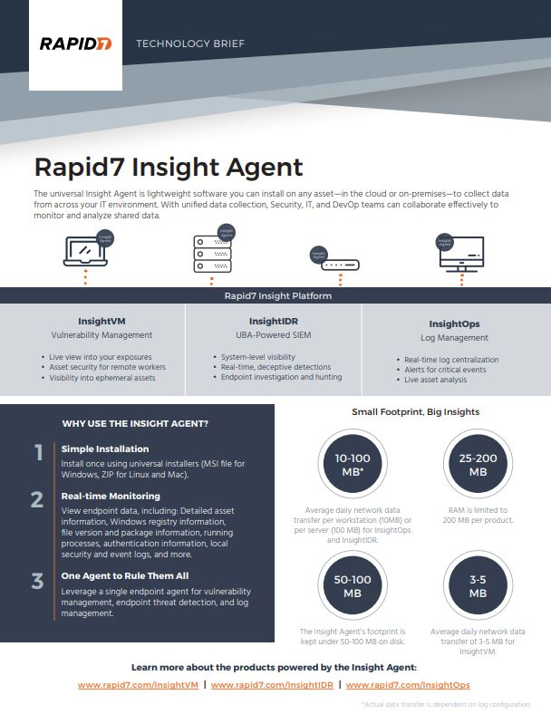 Rapid7 Insight Agent Technology Brief