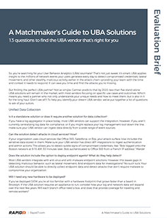Matchmakers Guide to UBA Solutions