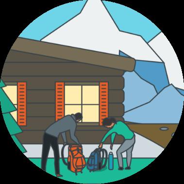 スキー小屋